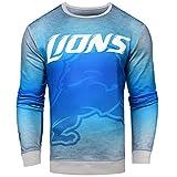 FOCO Detroit Lions Printed Gradient Crew Neck Sweater - Mens Large