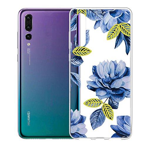 Funda para Huawei P20 Pro , IJIA Transparente Gato Y Libros TPU Silicona Suave Cover Tapa Caso Parachoques Carcasa Cubierta para Huawei P20 Pro (6.1) WM116