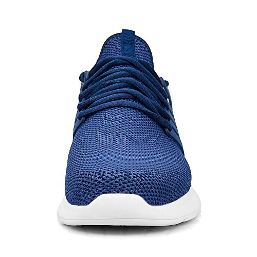 13 US Sneakers 5 Troadlop Ultra Shoes Running Size Walking Mesh Athletic Womens White Breathable Lightweight Blue 5 BBwO76qE