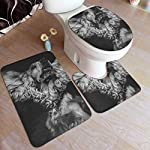GHWSgGN English Cocker Spaniel Dog Bathroom Rug Mats Set 3 Piece Fashion Anti-Skid Pads Bath Mat + Contour + Toilet Lid Cover 4