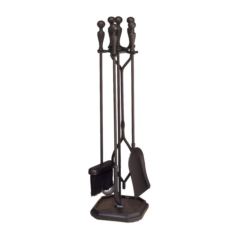 Minuteman International Plymouth  5-piece Fireplace Tool Set, Square Base by Minuteman International