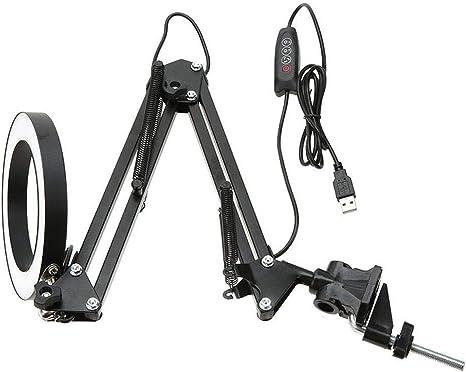 New 8W Eyecare LED Soft Light Desk Lamp Flexible Swing Arm Clamp Mount Lamp USB