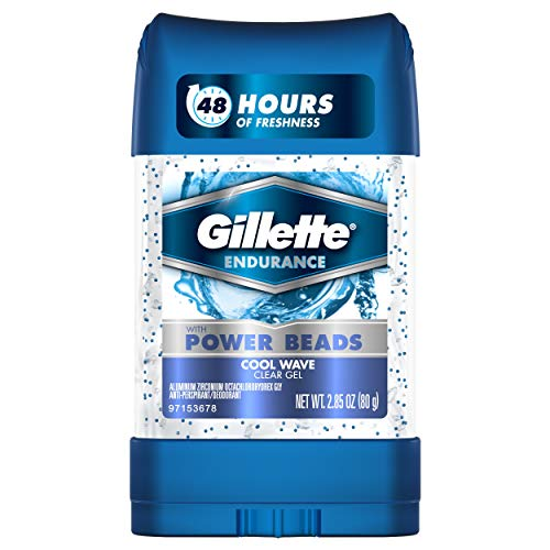 Gillette Clear Gel With Power Beads Cool Wave Anti-Perspirant/Deodorant 3 Oz (Pack of 6) (packaging may vary)