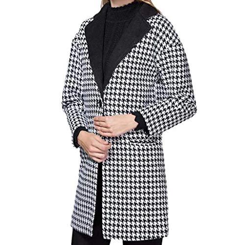 Parka Giacche Cardigan Lungo Reticolo Nero Cappotto Trench Autunno Eleganti Donna Manica Outwear Lunga Vicgrey xwcFqzvIYy