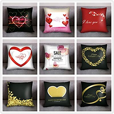 Throw Pillow Cover, DaySeventh Valentine's Day Print Pillow Case Polyester Sofa Car Cushion Cover Home Decor 18x18 Inch 45x45 cm