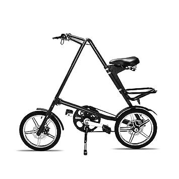 LMJ-XC Bicicleta portátil para Adultos Plegable, Rueda de 16 Pulgadas Los Frenos de Disco Dobles Son más Seguros de Manejar Adecuado para Viajes Cortos: ...