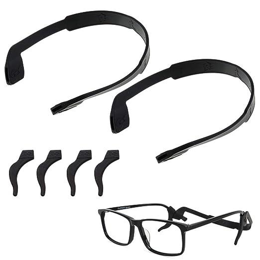 72f023f15c5e Amazon.com  Sport Silicone Anti-slip Holder for Glasses Free Ear Hook  eyeglass temple tip Adjustable elastic for Women