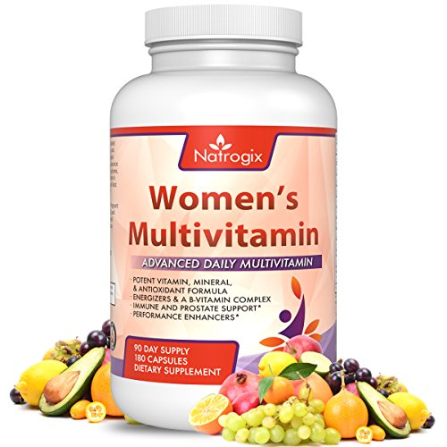 [Natrogix Women's Multivitamin 180 CT - Advanced Daily Multivitamin, Potent Vitamin, Mineral & Antioxidant Formula, Immune Support, Increase Energy & Enhance Performance, Made in USA] (Two No Iron 180 Caps)