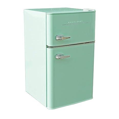 941726f421d Amazon.com  Magic Chef Retro Mini Refrigerator 3.2 cu. ft. 2-Door ...