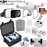 DJI Phantom 4 Quadcopter w/ FPV Bundle: Includes 2 Intelligent Flight Batteries, Zeiss VR One Virtual Reality Headset, SanDisk 64GB MicroSD Card, Go Professional Case and more... (iPhone 6/6s)