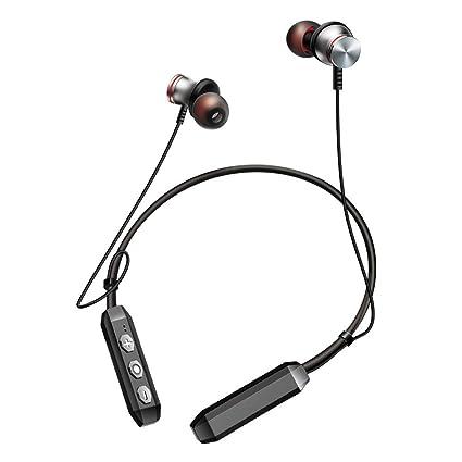 Auriculares inalámbricos Deportivos - Gbell Hombre Mujer Banda de Cuello Deportes Auriculares con Micrófono para iPhone