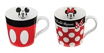 mickey and minnie mouse ceramic coffee mug set - Coffee Mug Sets