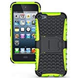Touch 5 Case,Touch 6 Case -Lantier iPod 5 2 in 1 TPU+PC Layer Hard and Hybrid Armor Combo Cover Case with Build-in Stand for Apple iPod Touch 5 5th Generation,Touch 6 6th Generation Green