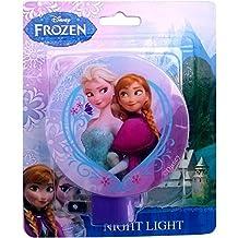 Disney Frozen Girls Anna & Elsa Night Light (Purple)