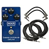 MXR M288 Bass Octave Deluxe Pedal w/ 4 Cables