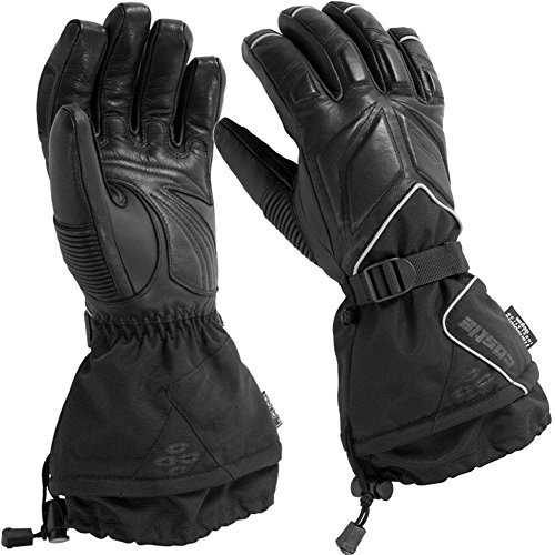 Castle X TRS G2 Mens Snowmobile Gloves Black LG - Leather Snowmobile Gloves
