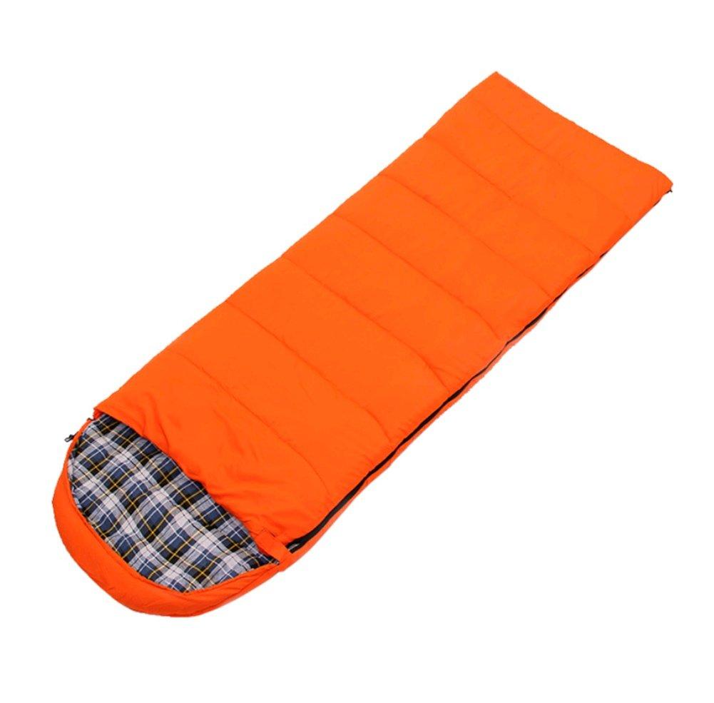 SHUIDAI Outdoor Camping Schlafsack Umschlag Typ Flanell warmen Schlafsack Nähen Camping Schlafsack