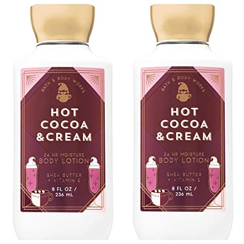 Bath & Body Works Hot Cocoa & Cream Super Smooth Body Lotion 8 fl.oz Pack of ()