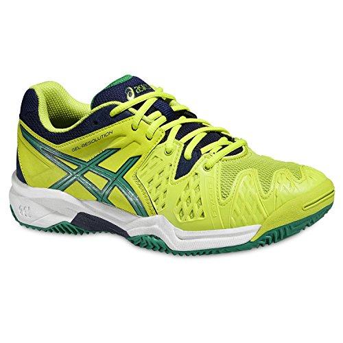 Asics Gel Resolution 6 Clay Gs Lime/Verde/Blu Scarpa tennis