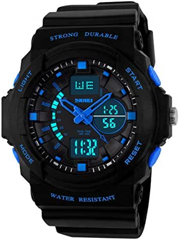 Classical Fashion Water-resistance Watches for Children Casual Kids Watch Students Watch Boys Girls Outdoor Sports Watch Christmas Gift Watch (Blue)