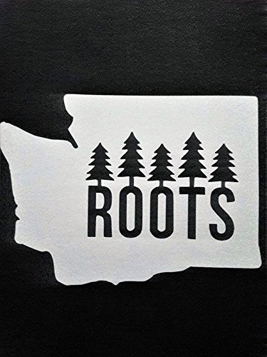 Chase Grace Studio Washington State PNW Vinyl Decal Sticker|WHITE|Cars Trucks Vans SUV Laptops Walls Glass Metal |5.5