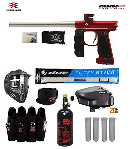 Cheap Empire Mini GS Tournament Elite Paintball Gun Package B – Dust Red/Silver