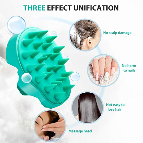 Verigle Hair Scalp Massager Shampoo Brush  1 Pack Silicon Soft Comb for Men Women Kids Pet Perfect for Home Work Holiday Green Green
