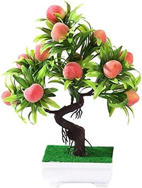 Amazon Com Fasgion Artificial Fruit Bonsai Plants Apple Orange Fruit Tree Potted For Home Living Room Decoration Flower Set Shop Decor Color D Kitchen Dining