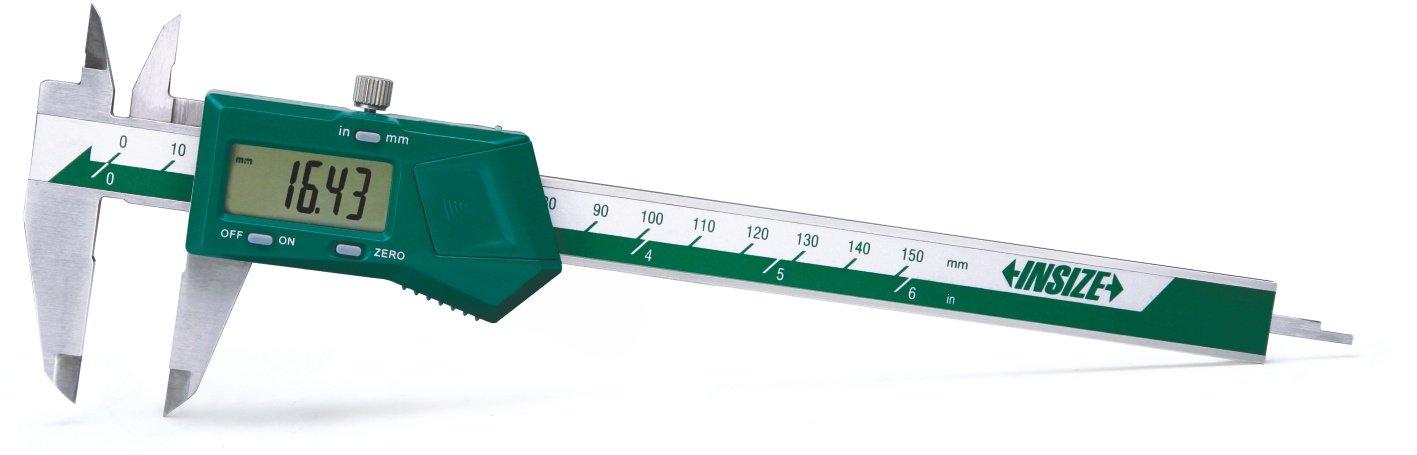 Insize 1108-150W - Calibre electró nico, sin rodillo de pulgar, 0-150 mm o 0-6 pulgadas INSIZE CO. LTD