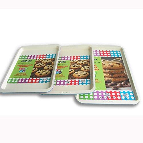 casaWare Cookie Sheet 3pc Set: Blue
