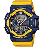 G-Shock GA-400-9B Rotary Switch Mission Stylish Watch - Blue/Yellow / One Size
