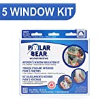 Polar Bear Weatherproofing Standard 5 Window Insulation Film Kit - 62 inch x 210 inch - Crystal Clear Film