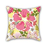 NICEPLW pillow covers of flower,for kids room,bar seat,valentine,valentine,kids,gf 18 x 18 inches / 45 by 45 cm(double sides)