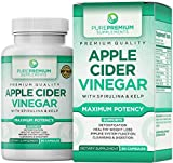 Premium Apple Cider Vinegar Capsules by PurePremium (Maximum Strength) ACV Pills - Healthy Digestion, Energy, and Immune System - 90 Caps