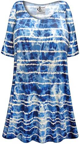 Ocean View Plus Size Supersize Poly/Cotton Extra Long T-Shirt