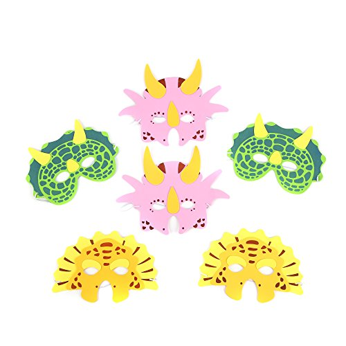 Fun Central AY617 12ct Foam Dinosaur Masks, Dinosaur Toys for Kids, Party Masks, Foam Animal Masks, Foam Masks for Kids, Dinosaur Party Masks - Assorted -