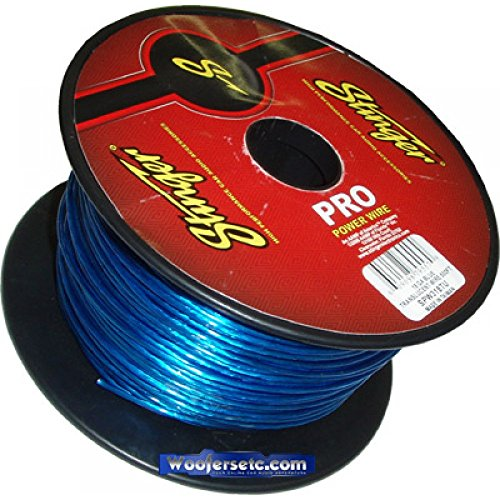 - Stinger SPW318TU PRO Series 18 Gauge Translucent Primary Wire 500-Feet (Blue)