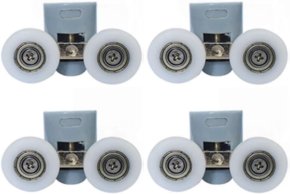 23 mm de di/ámetro piezas de repuesto ruedas//tiradores//gu/ías bricolaje ba/ño para el hogar Juego de 8 rodillos para puerta de ducha