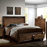 Elkton Oak Finish Cal King Size 6 Piece Bedroom Set