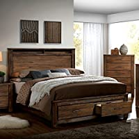 Elkton Oak Finish Cal King Size 6-Piece Bedroom Set