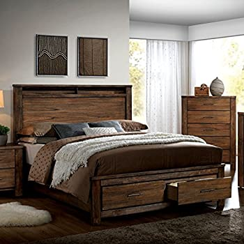 Amazon.com: Elkton Oak Finish Queen Size 6-Piece Bedroom Set ...