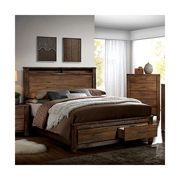 Elkton Traditional Oak Finish Cal King Size 6-Piece Bedroom Set