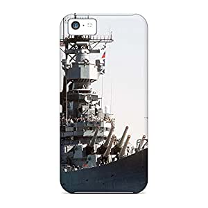 High-definition mobile phone skins Awesome Phone Cases Heavy-duty iphone 5c - battleship 'uss iowa'
