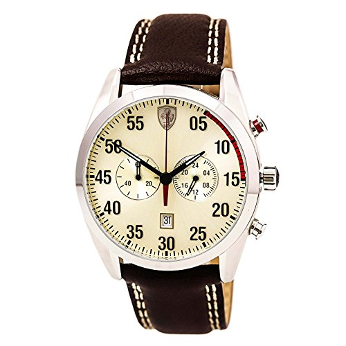 Ferrari Men's 0830174 D 50 Analog Display Quartz Brown Watch