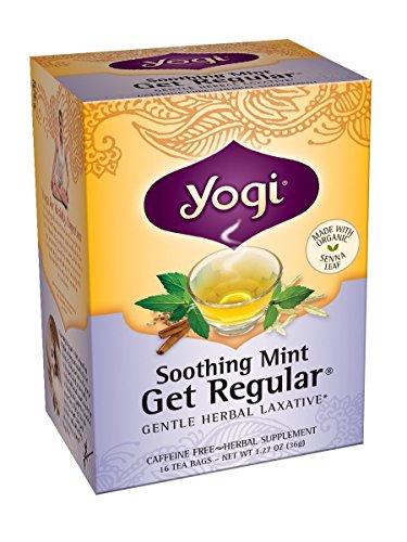Yogi Tea, Soothing Mint Get Regular, 16 Count (Pack of 6), Packaging May Vary