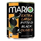 Mario Camacho Foods Pitted Large Black Olives (Pack of 12)