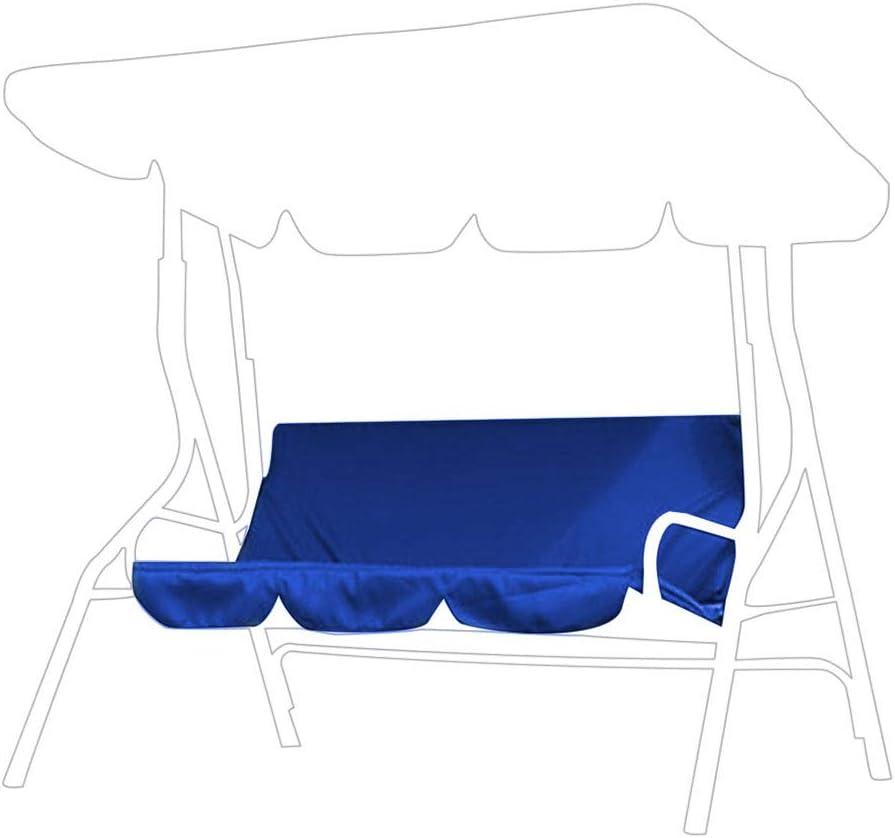 Swing Cushion, 3‑Seat Foldable Waterproof Furniture Chair Cushion Bench Settee Cushion Replacement for Outdoor Patio Garden Yard (Dark Blue)