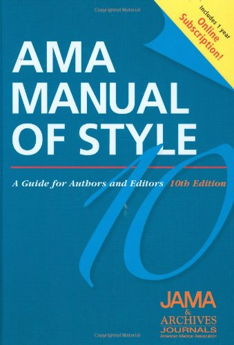 AMA Manual of Style: A Guide for Authors and Editors  Special Online Bundle Package