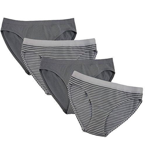 FEM Girl Seamless Underwear Bikini Panties for Girls - 2 Pack or 4 Pack