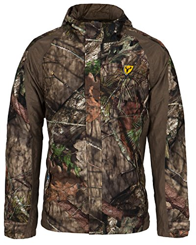 Scent Free Hunting Clothes - Scent Blocker 100% Polyester Adjustable 3 Piece Hood Drencher Jacket, Mossy Oak Country (Large)
